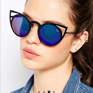 "Quay ""Invader"" Cat Eye Sunglasses - Mirror lens!"